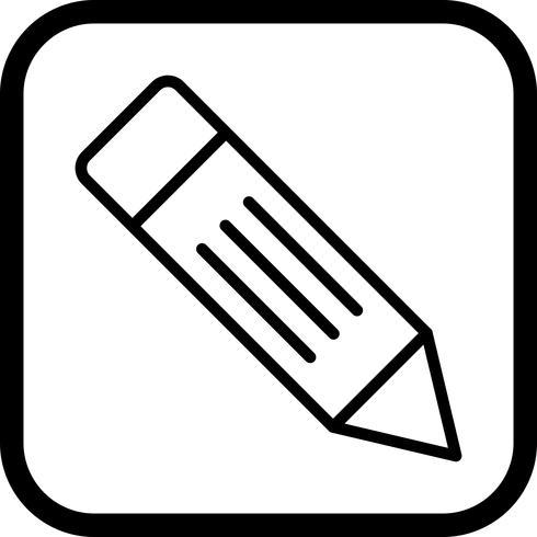 Potlood pictogram ontwerp vector
