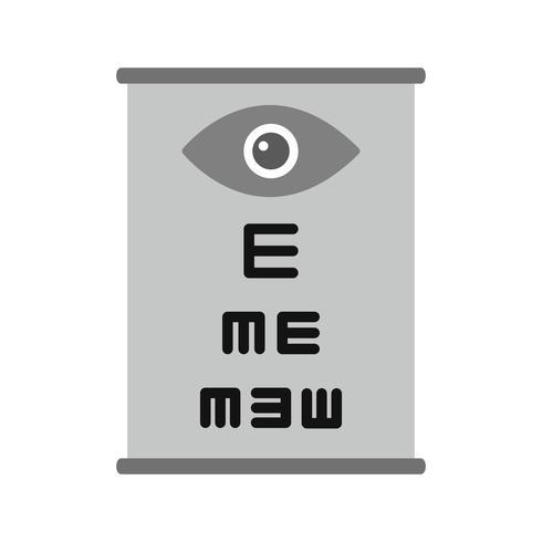 Oogtest pictogram ontwerp vector