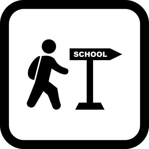 Wandelen naar school pictogram ontwerp vector