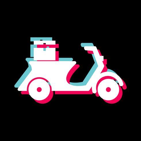 Levering motorfiets pictogram ontwerp vector