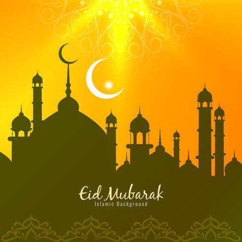 Abstracte Eid Mubarak stijlvolle begroeting achtergrond vector