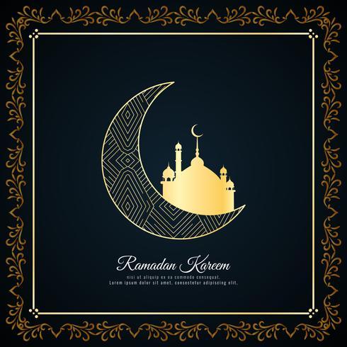 Abstracte Ramadan Kareem-islamitische begroeting achtergrond vector