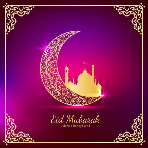 Abstracte elegante Eid Mubarak religieuze achtergrond vector