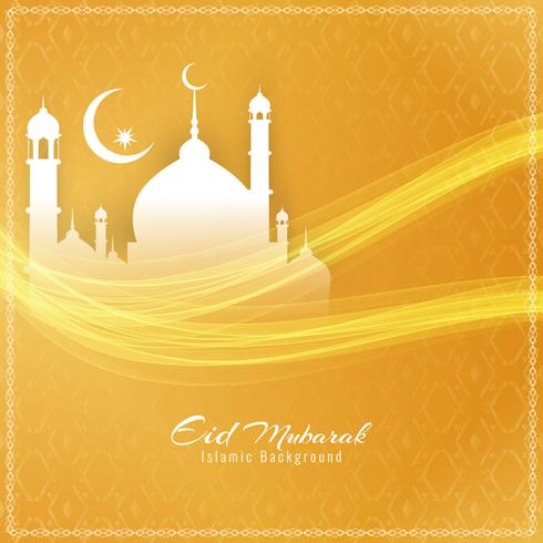 Abstract modieus Eid Mubarak-festivalontwerp als achtergrond vector