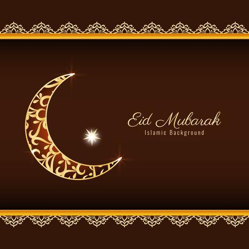 Abstract Eid Mubarak godsdienstig ontwerp als achtergrond vector