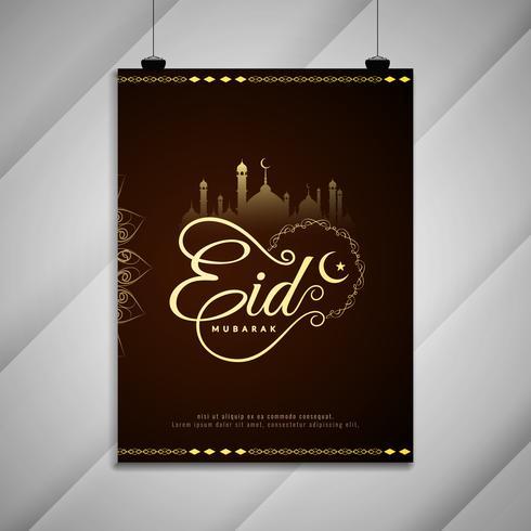 Abstract Eid Mubarak-festivalbrochureontwerp vector