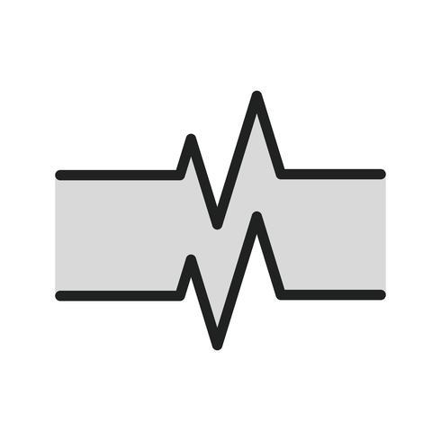 Ontwerp van het pictogram van de pulsfrequentie vector
