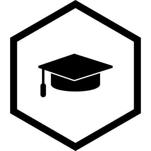 Graduation Cap pictogram ontwerp vector