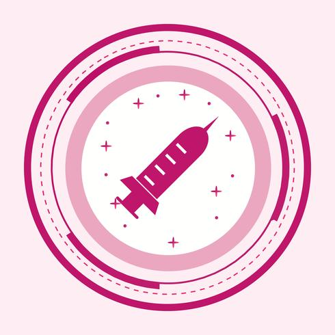 Injectie pictogram ontwerp vector
