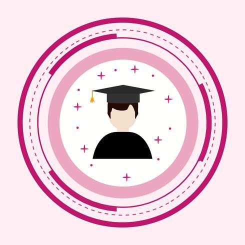 Mannelijke student pictogram ontwerp vector