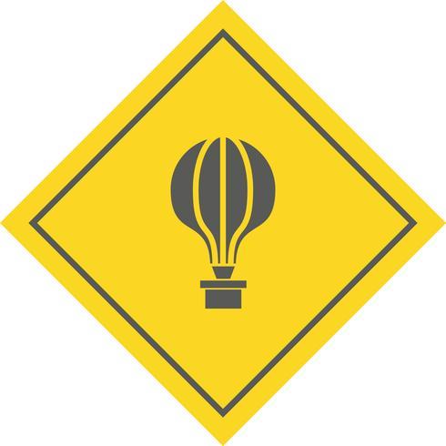 Luchtballon pictogram ontwerp vector