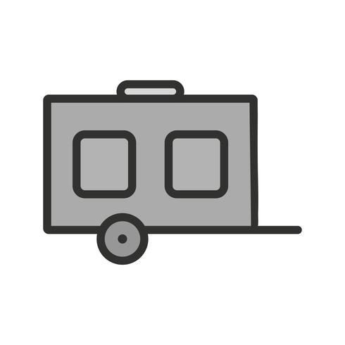 Wagon pictogram ontwerp vector