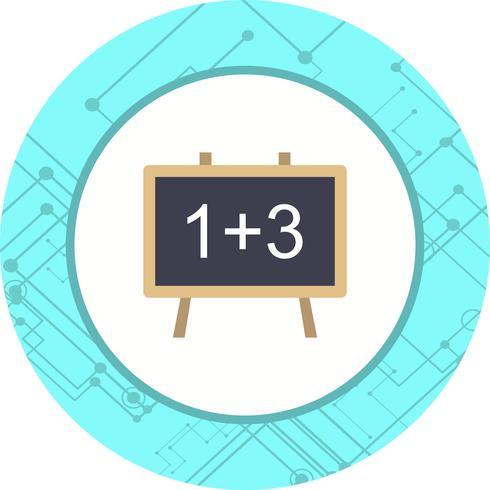 Wiskunde Icon Design vector
