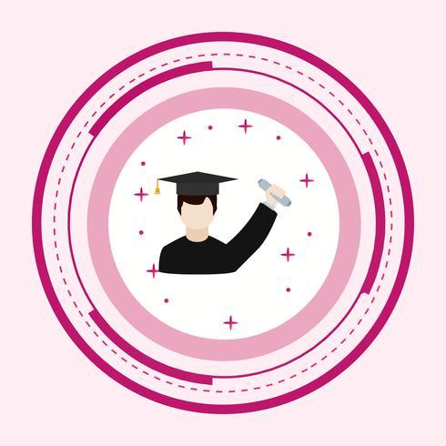 Gediplomeerd pictogramontwerp vector