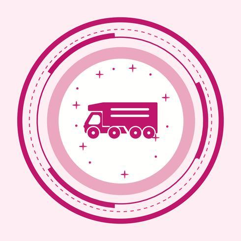 Kipper Truck pictogram ontwerp vector