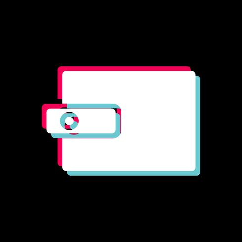 Ontwerp van portemonnee-icoon vector