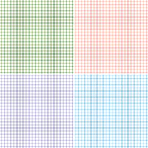 pastel geruite geruite ruitmotieven vector