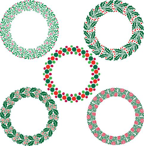 Kerstkrans frames vector