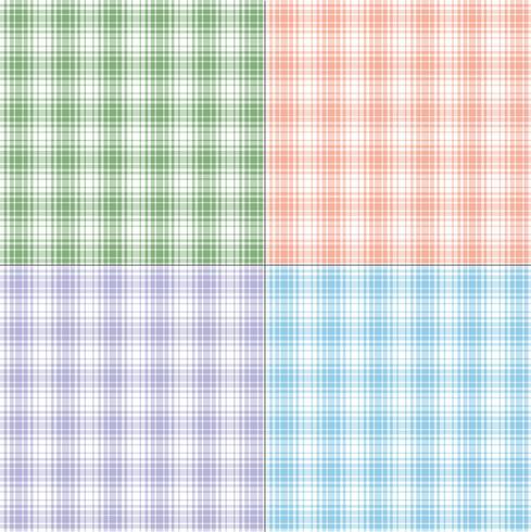 pastel twill plaids vector