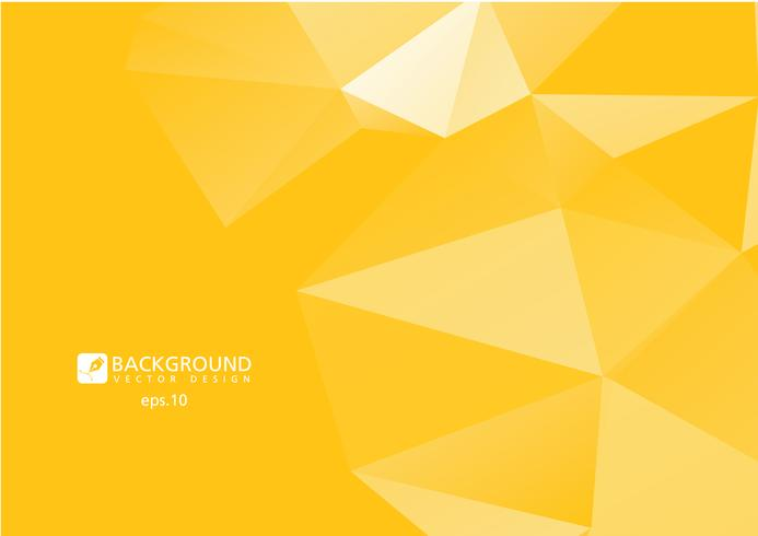 Gele abstracte geometrische verkreukelde driehoekige laag poly vector de illustratie grafische achtergrond van de stijl