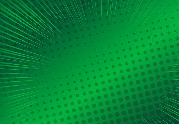 Pop-art groene achtergrond, illustratie van de snelheids retro retro stralen - Vector
