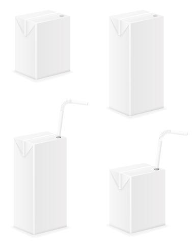 wit pakket met sap vectorillustratie vector