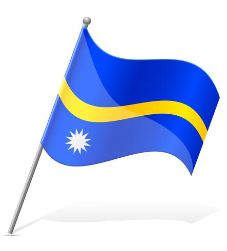 vlag van Nauru vectorillustratie vector
