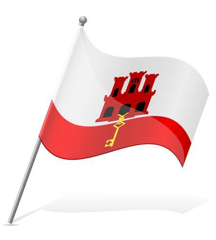 vlag van Gibraltar vectorillustratie vector