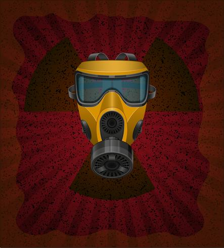 concept van radioactieve besmetting vectorillustratie vector