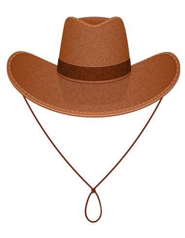 cowboyhoed vectorillustratie vector
