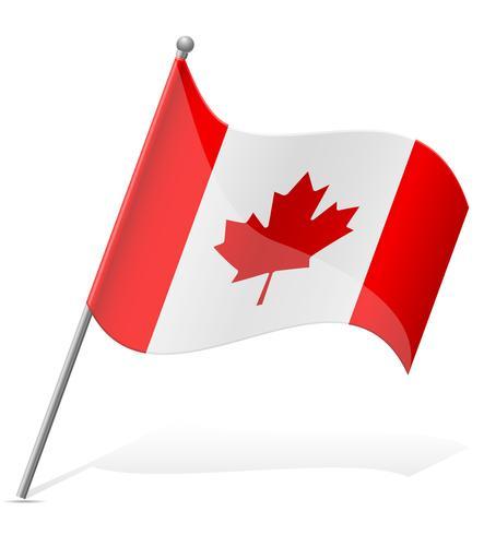 vlag van Canada vectorillustratie vector