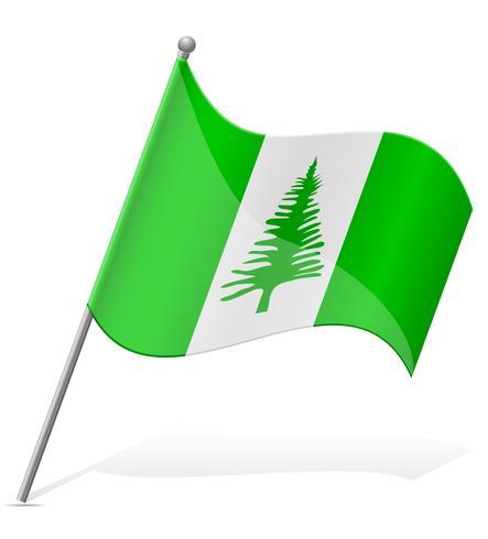 vlag van de Norfolk-eilanden vectorillustratie vector