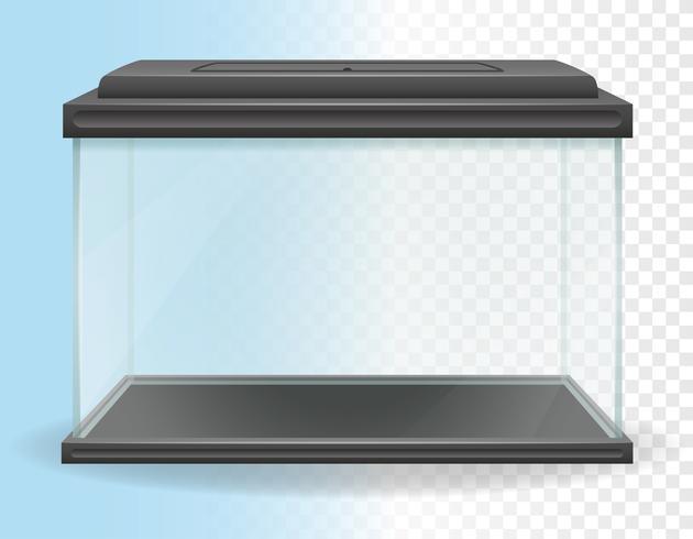 transparante aquarium vectorillustratie vector
