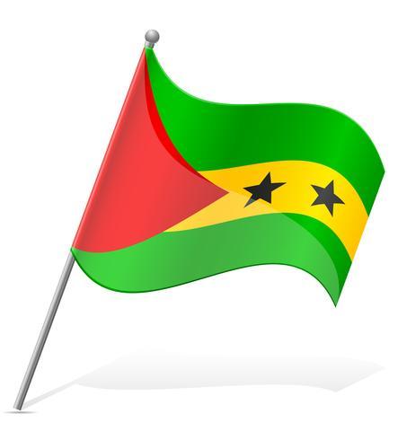 vlag van Sao Tomé Principe vectorillustratie vector