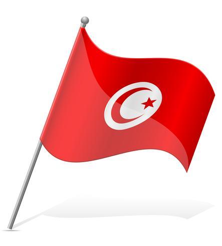 vlag van Tunesië vectorillustratie vector