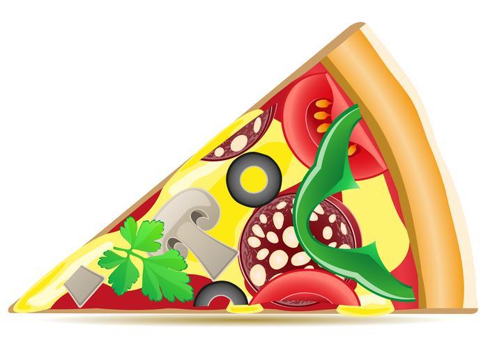 pizza vectorillustratie vector