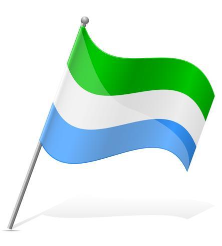 vlag van Sierra Leone vectorillustratie vector