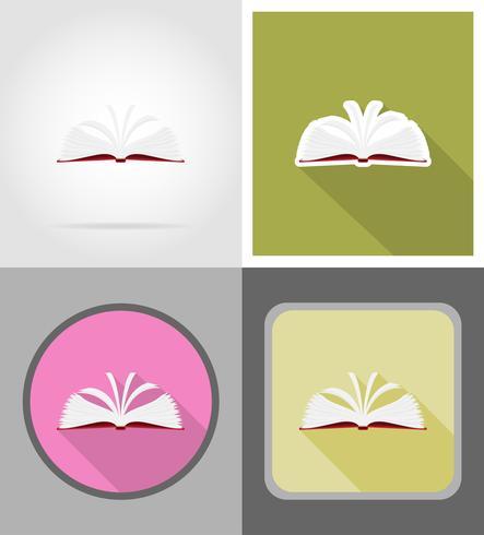 boek plat pictogrammen vector illustratie