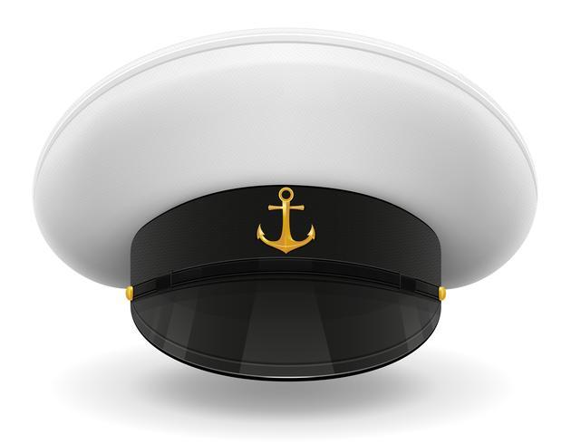 professionele uniforme cap of kapitein matroos vectorillustratie vector