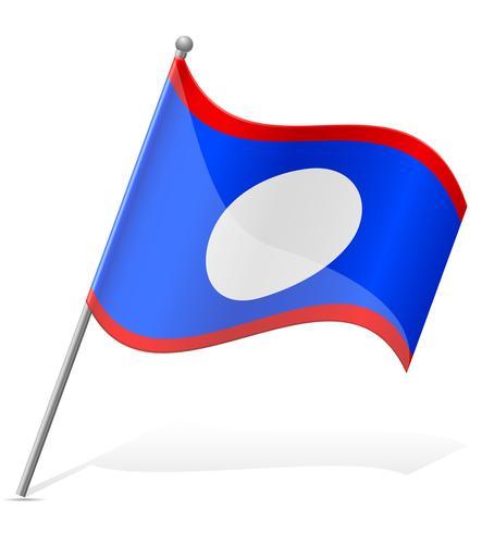 vlag van Belize vectorillustratie vector