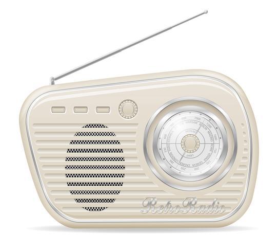 radio oud retro vintage pictogram voorraad vectorillustratie vector