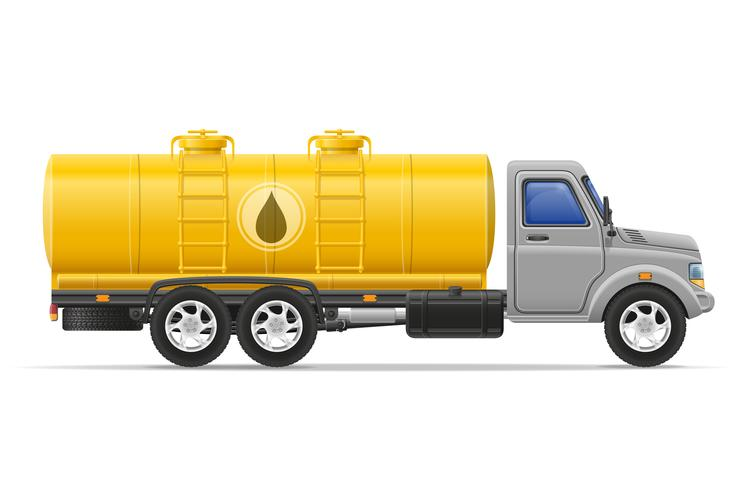 vrachtvrachtwagen met tank voor het vervoer van vloeistoffen vectorillustratie vector