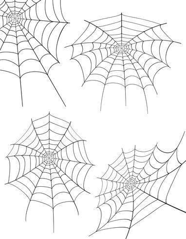 spider web voorraad vectorillustratie vector