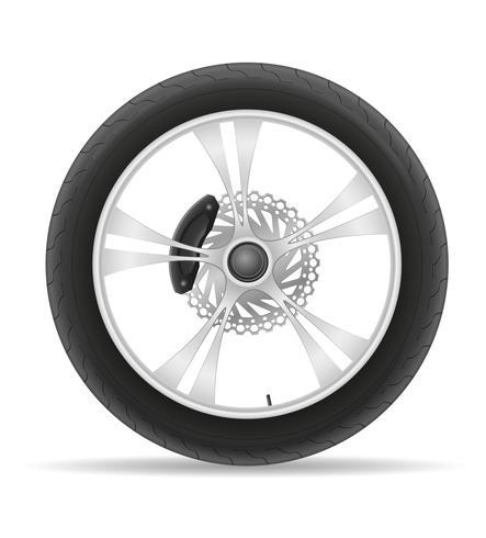 motorfiets wiel band van de schijf vectorillustratie vector