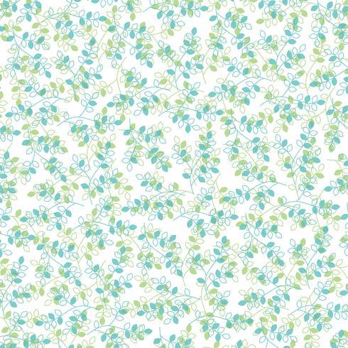 blauwgroen bladpatroon vector