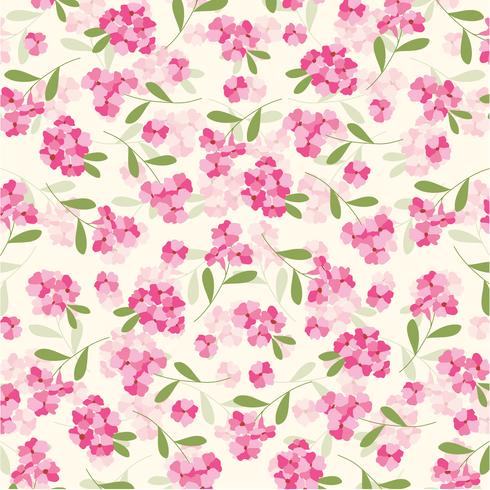 roze bloemenpatroon vector