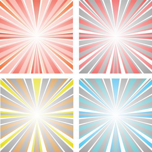 Abstracte illustratiezonsondergang vector