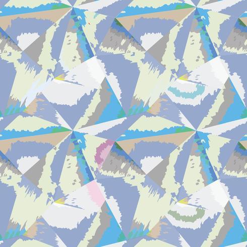Abstract naadloos patroon Geometrische vorm aquarel achtergrond vector