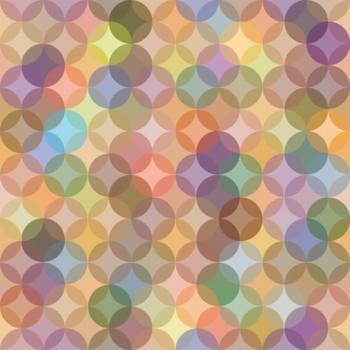 Abstract naadloos patroon met cirkelornament vector
