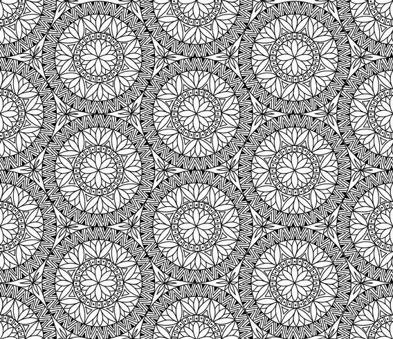 Abstract mozaïek tegel patroon. Oosters geometrisch cirkelornament vector